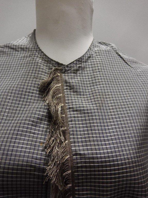 Civil War Era Silk Shawl with fringe Trim - 2
