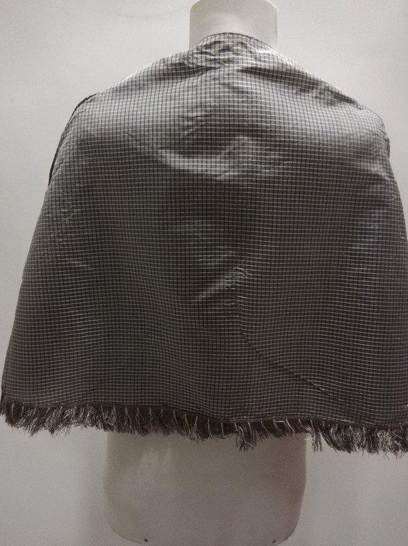 Civil War Era Silk Shawl with fringe Trim - 4