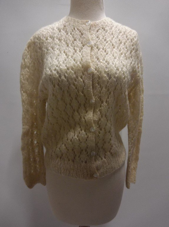 1950's Mohair Knit Cardigan Sweater