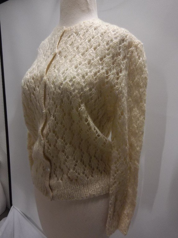 1950's Mohair Knit Cardigan Sweater - 3
