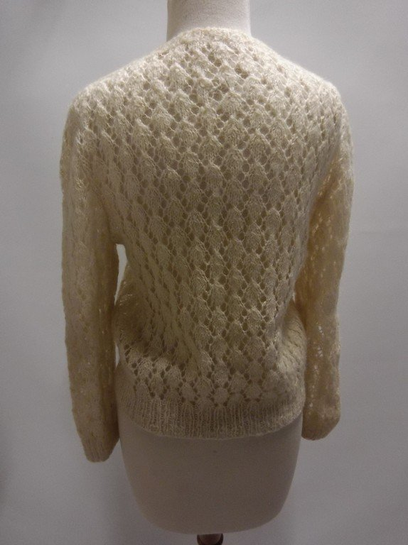 1950's Mohair Knit Cardigan Sweater - 4