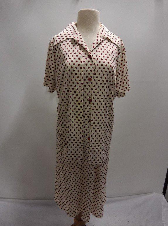 2 piece 1950/60's Red Polka dot Shift & Short Sleeve
