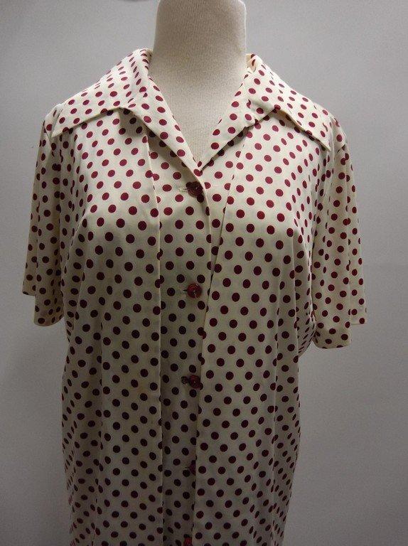2 piece 1950/60's Red Polka dot Shift & Short Sleeve - 2