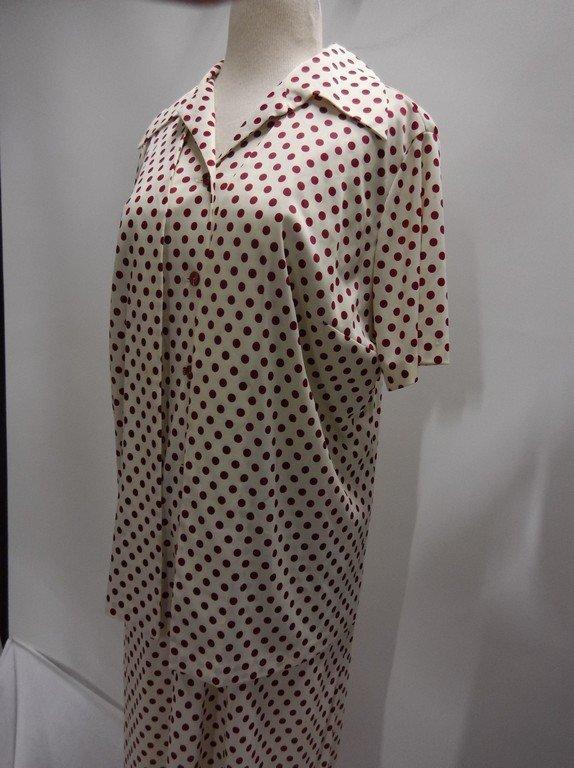 2 piece 1950/60's Red Polka dot Shift & Short Sleeve - 3