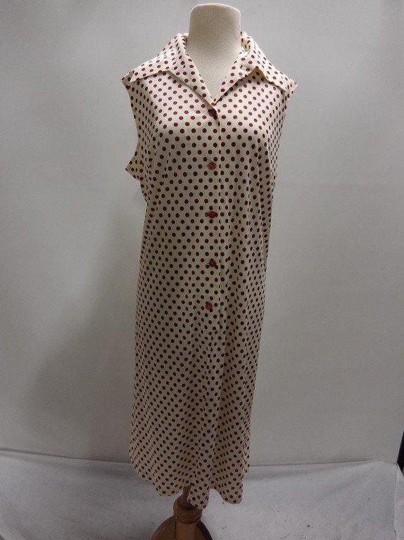 2 piece 1950/60's Red Polka dot Shift & Short Sleeve - 4