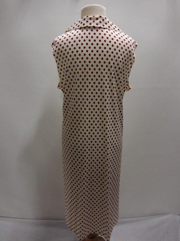 2 piece 1950/60's Red Polka dot Shift & Short Sleeve - 6