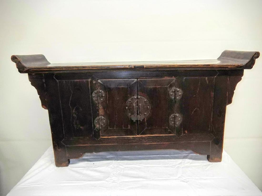 Asian Altar Cabinet with wing top