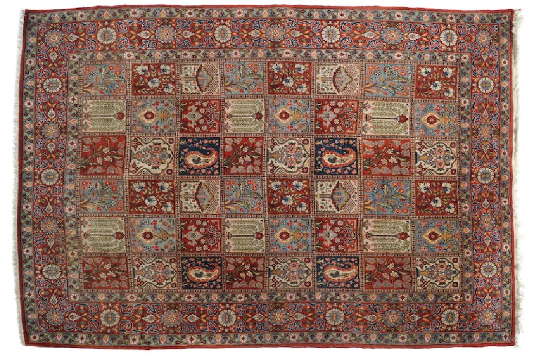 NORTH PERSIAN SILK WOOL AND WEAVE CARPET