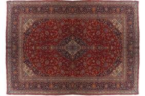 EARLY TWENTIETH-CENTURY WEST PERSIAN KASHAN CARPET