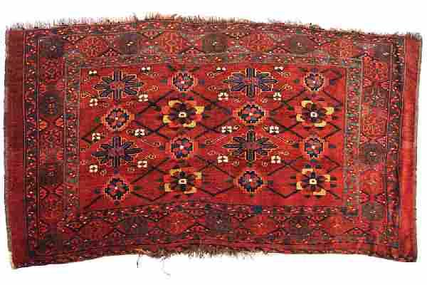 LATE NINETEENTH-CENTURY CHUVAL TURKMENISTAN RUG