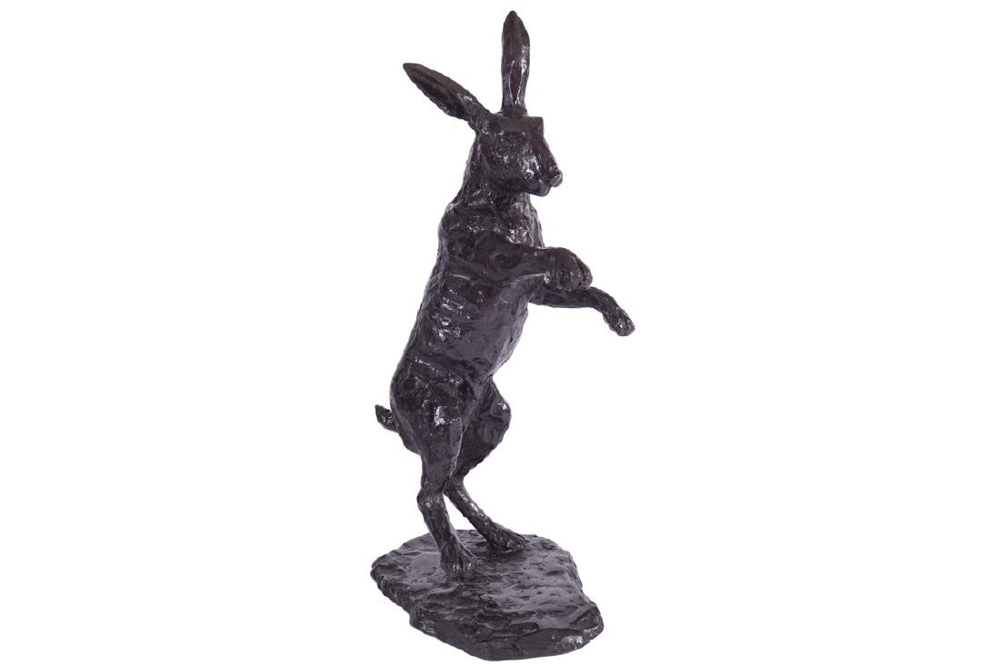 BRONZE STUDY OF A STANDING HARE