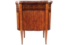 NINETEENTH-CENTURY FRENCH KINGWOOD AND  MARQUETRY WINE