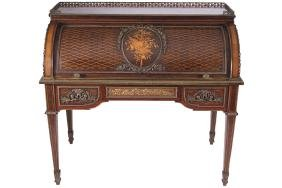 IMPORTANT FRANCOIS LINKE ORMOLU MOUNTED  MARQUETRY AND