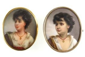 TWO NINETEENTH-CENTURY OVAL PORTRAIT MINIATURES