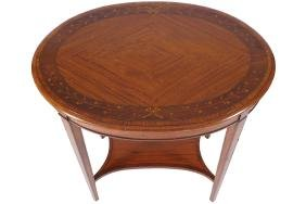 EDWARDIAN PERIOD SATINWOOD AND MARQUETRY  OCCASIONAL