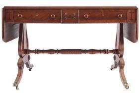 CORK REGENCY PERIOD MAHOGANY SOFA TABLE