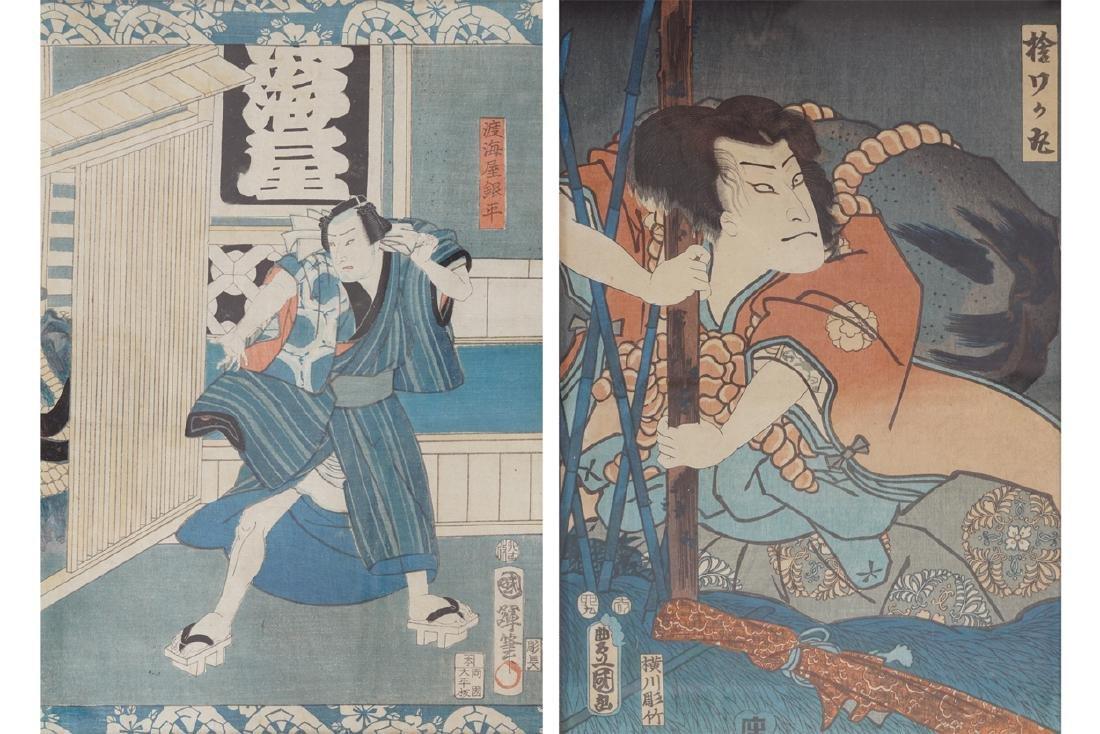 KUNITERA JAPANESE WOODBLOCK PRINT, CIRCA 1850