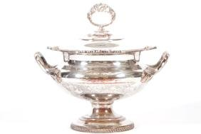 GEORGE III SHEFFIELD SOUP TUREEN AND COVER