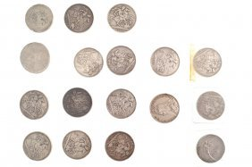 COLLECTION OF SILVER CROWNS AND HALF CROWNS