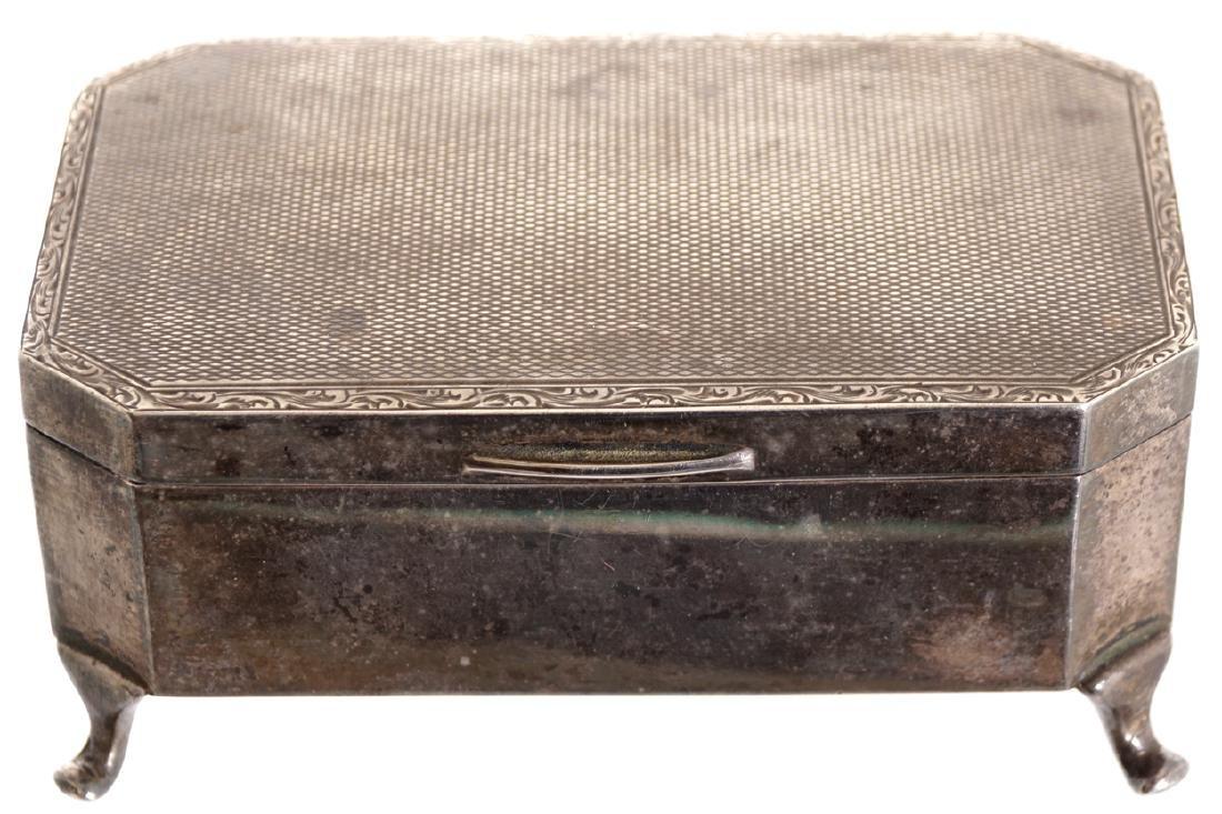 SILVER RECTANGULAR BOX, CIRCA 1930