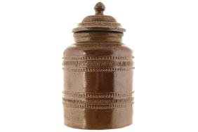 POTTERY JAR AND COVER
