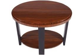 ART DECO OVAL OCCASIONAL TABLE