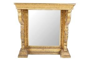 NINETEENTH-CENTURY CARVED GILT WOOD CONSOLE TABLE
