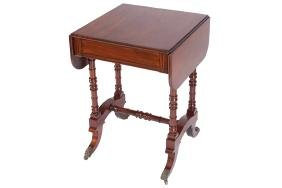 SMALL REGENCY PERIOD MAHOGANY SOFA TABLE, CIRCA 1810