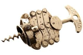 NINETEENTH-CENTURY FRENCH SIGNED WINE CORK SCREW