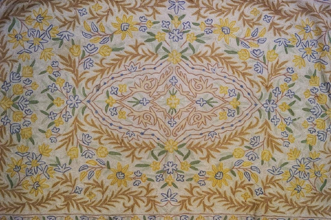 ARTS AND CRAFTS CREWEL WORK THROW