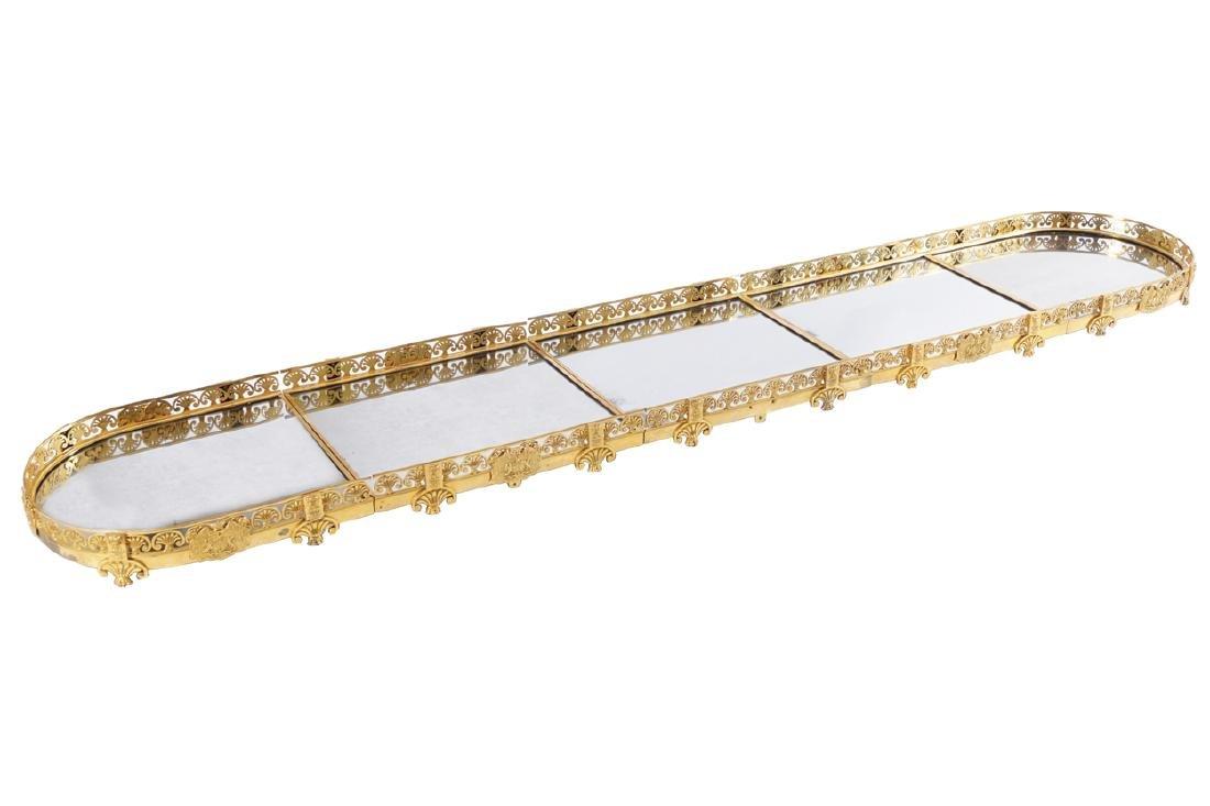 A REGENCY GILT-BRONZE SURTOUT DE TABLE, CIRCA 1805