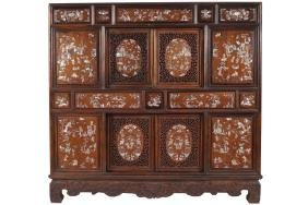 NINETEENTH-CENTURY CHINESE HARDWOOD AND MOTHER O'PEARL