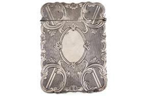 ORNATE SILVER CARD CASE