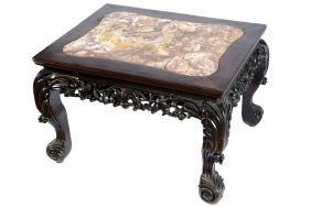 LARGE NINETEENTH-CENTURY CHINESE HARD-WOOD LOW TABLE
