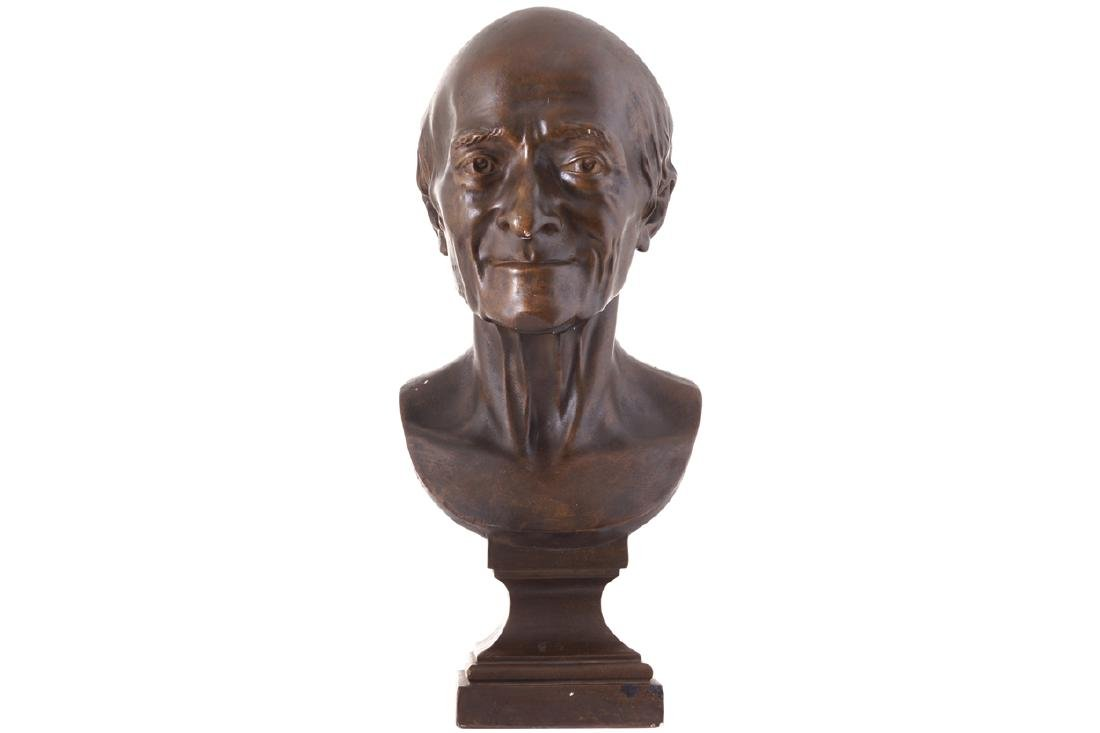PLASTER BUST OF VOLTAIRE