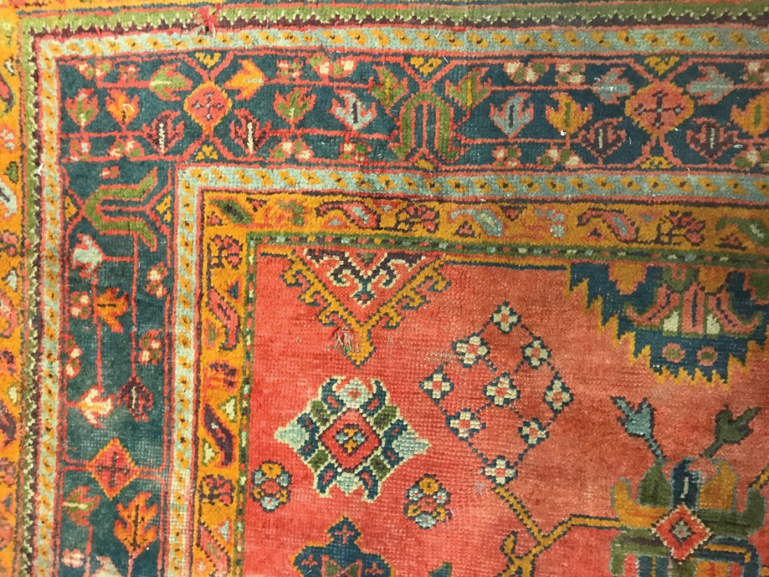 LARGE OUSHAK CARPET, CIRCA 1880