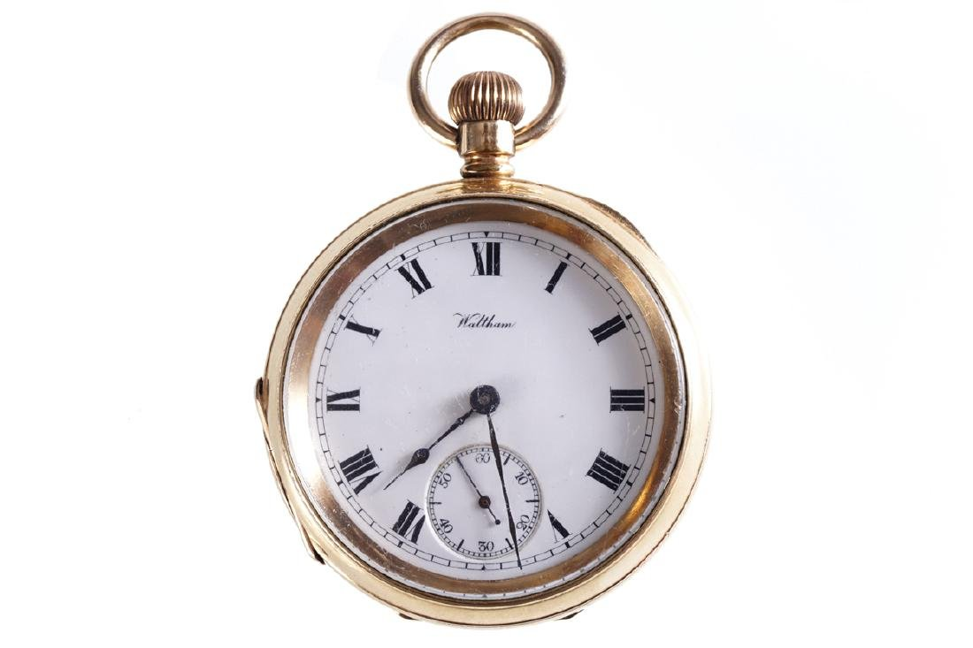 GOLD PLATED WALTHAM POCKET WATCH