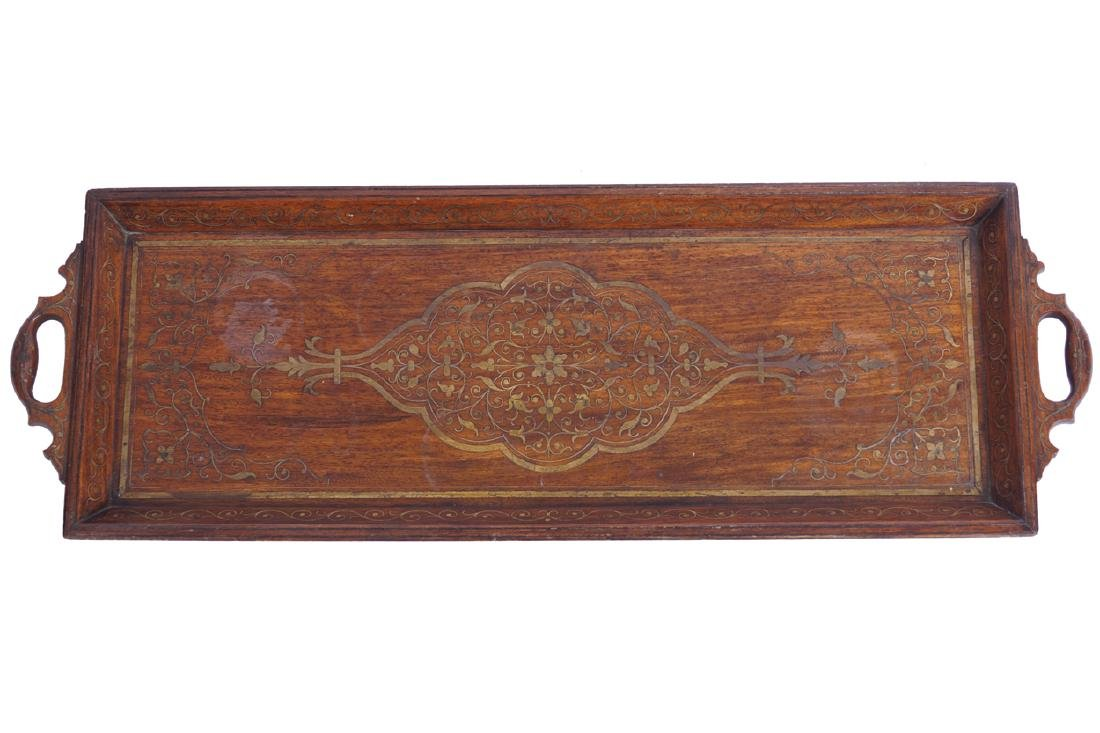 INDIAN TEAK SERVING TRAY