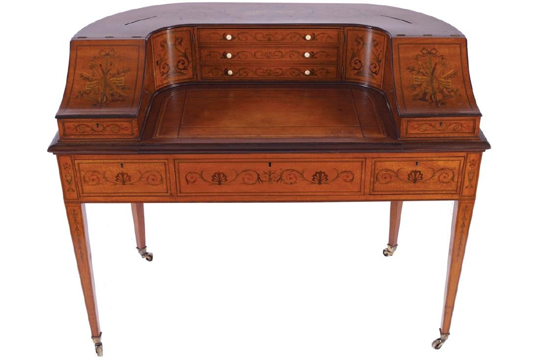 NINETEENTH-CENTURY SATINWOOD AND  MARQUETRY CARLTON