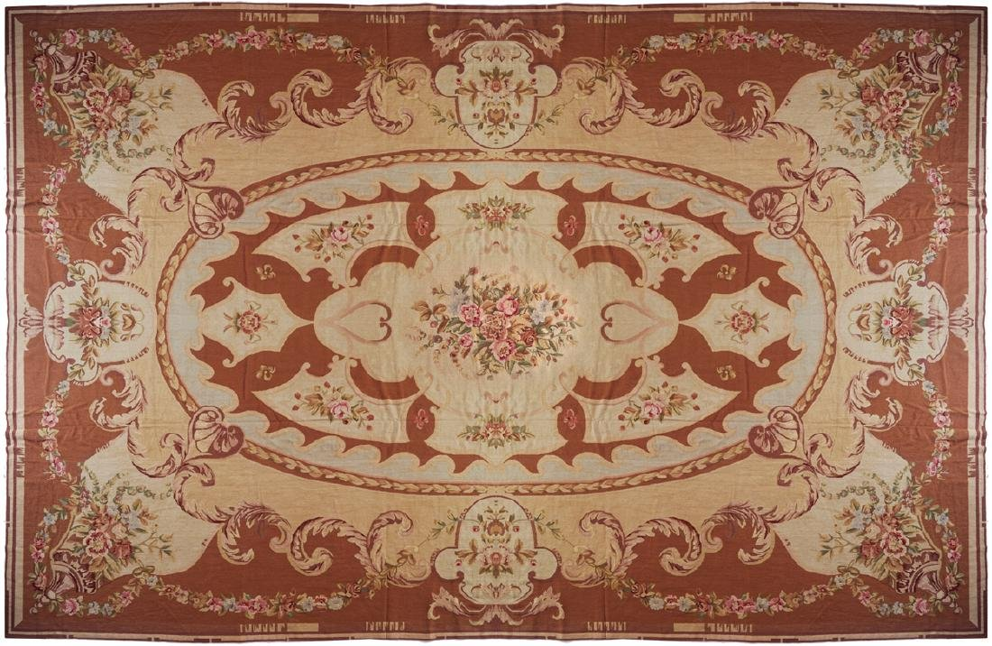 AUBUSSON CARPET, CIRCA 1930