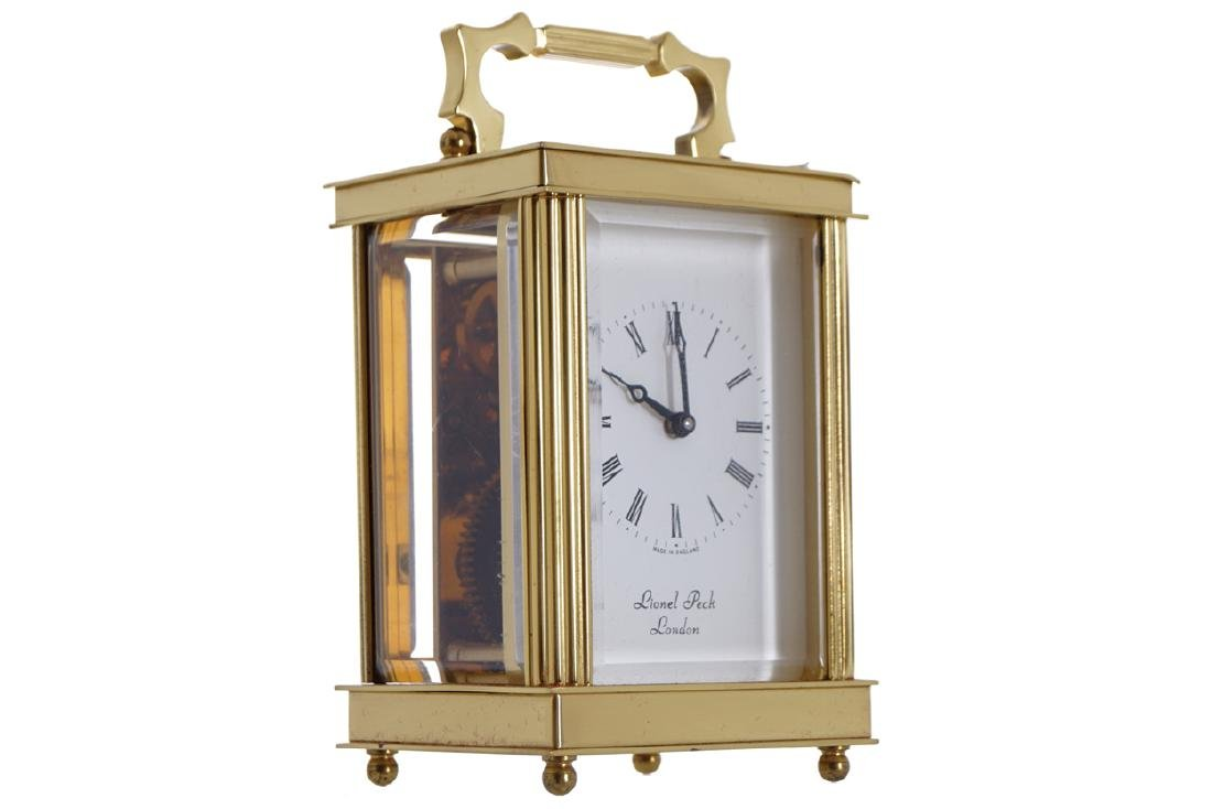 CASED BRASS CARRIAGE CLOCK