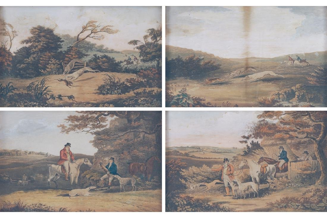 SET OF FOUR NINETEENTH-CENTURY HUNTING PRINTS