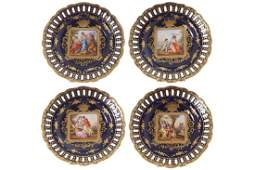 SET OF FOUR ROYAL VIENNA PLATES
