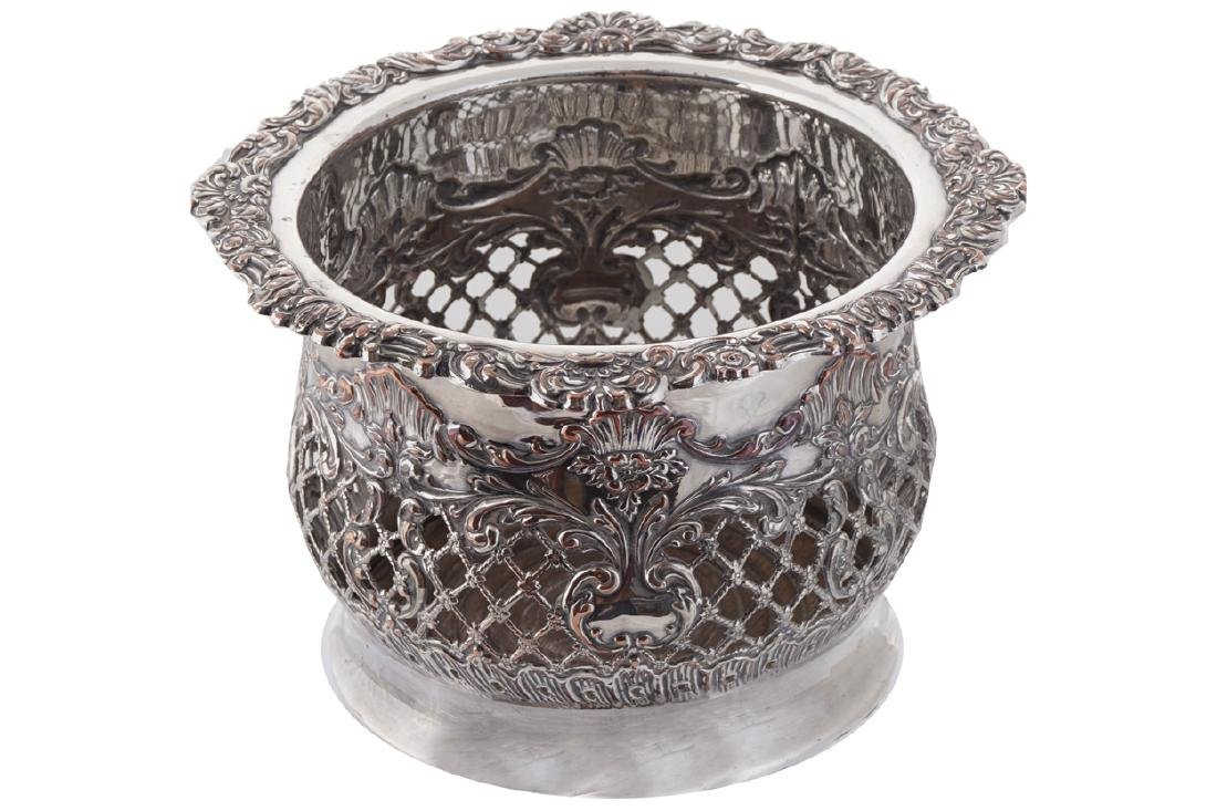 NINETEENTH-CENTURY SILVER PLATED CHAMPAGNE COASTER