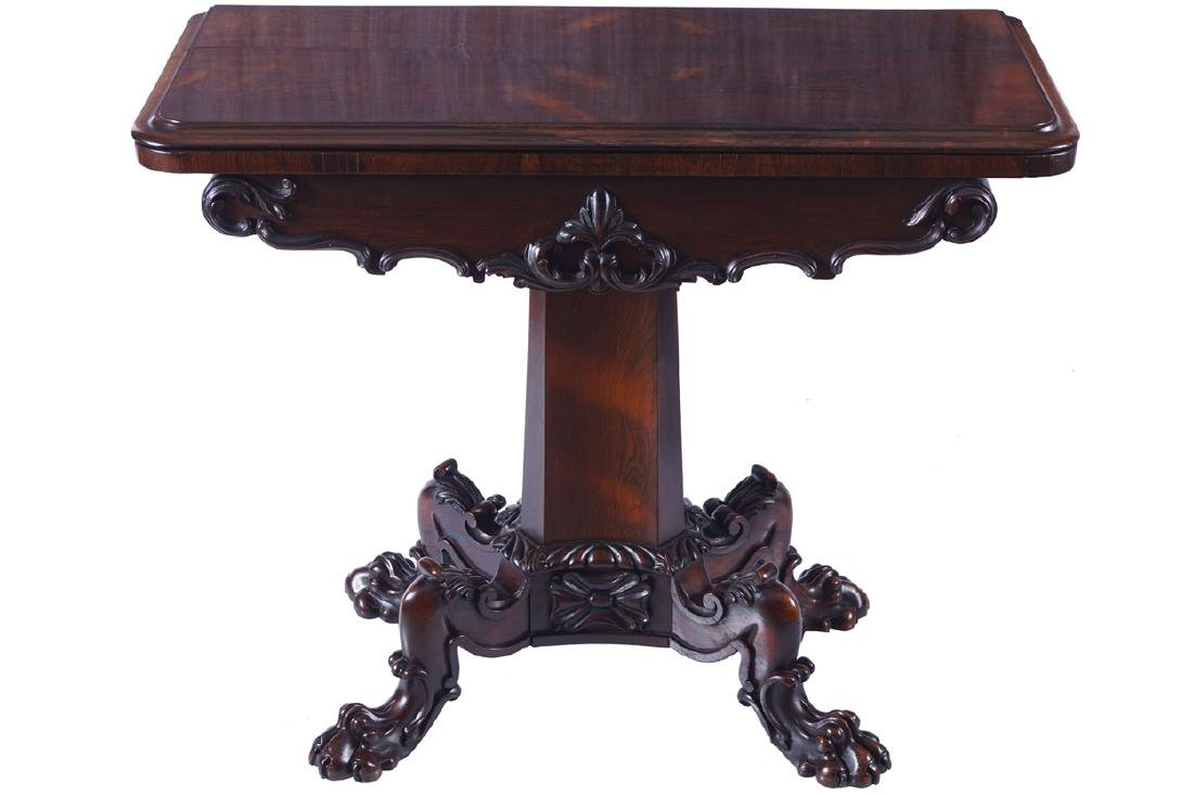 WILLIAM IV PERIOD ROSEWOOD CARD TABLE