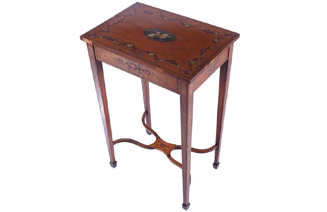 EDWARDIAN PERIOD SATINWOOD AND PAINTED OCCASIONAL TABLE