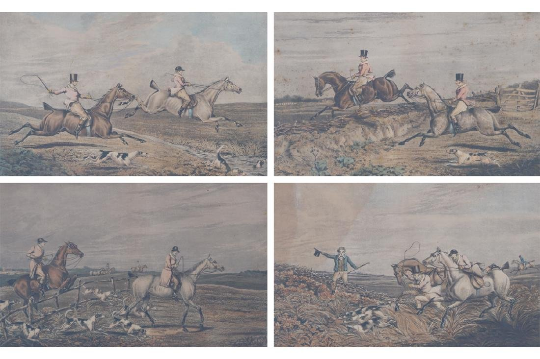 SET OF FOUR NINETEENTH-CENTURY ALKEN HUNTING PRINTS