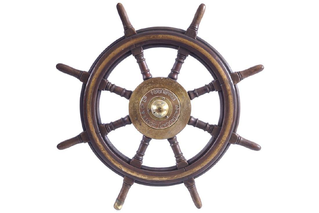 NINETEENTH-CENTURY SHIP'S WHEEL