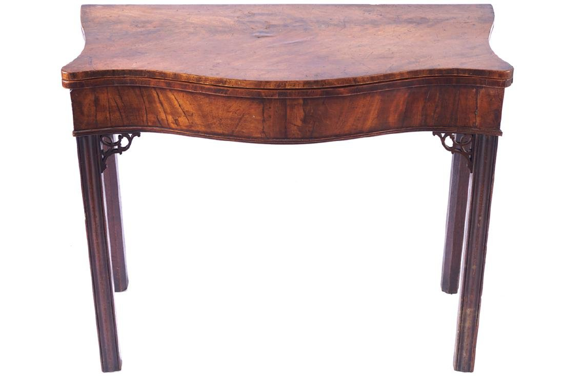 GEORGE III PERIOD CHIPPENDALE TEA TABLE, CIRCA 1780