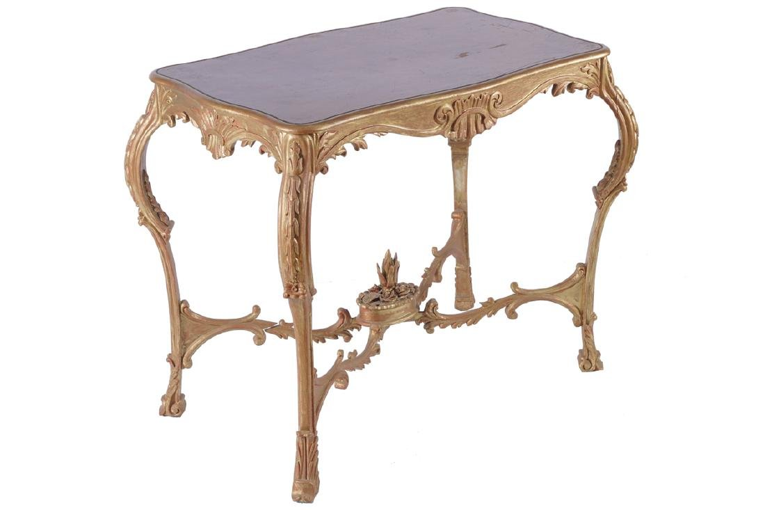 NINETEENTH-CENTURY CARVED GILTWOOD OCCASION TABLE